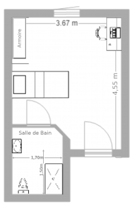 plan de l'appartement T1(1)