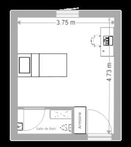 plan de l'appartement T1(2)