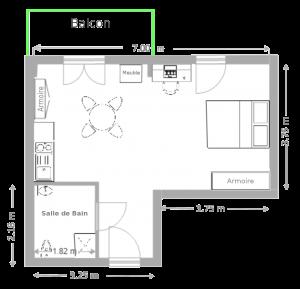 plan de l'appartement T1bis(1)