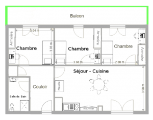 plan de l'appartement T4