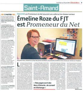 Emeline Rose Promeneur du Net du FJT29 juin 2016